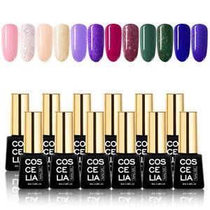 COSCELIA 12Colors Soak Off UV Gel Nail Polish Matte Art Manicure Kits 8ml Sets