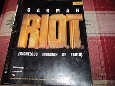 Carman R.I.O.T. RIOT Medium Voice Range song book 10 songs