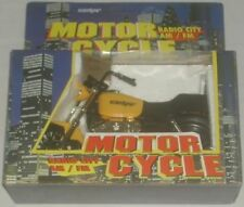 Scandyna Yellow Motor Cycle Radio City AM/FM Radio New In Box