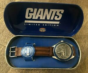 New York Giants NFL Fossil Watch - w/ Case - Men's Watch - 1993 Limited Edition