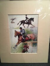 Equestrian 3 Day Event Mounted Print Showjumping Xcountry Dressage 10 X 8 Horse