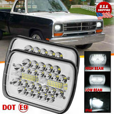 "Pair 5x7"" 7x6"" 45W LED Headlights Hi/Lo Beam For Dodge D150 D250 D350 Ram 50 H4"