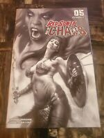 Red Sonja Age Of Chaos #5 1:40 Incentive B&W Cover Lucio Parrillo Art Dynamite