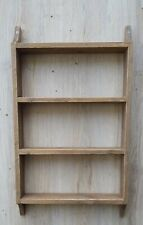 Rustic wooden shelves