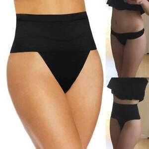 Tummy Control Women Mid Waist Thong Body Shaper Butt Lifter Shapewear Underwear