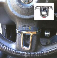 1PC STEERING WHEEL CHROME INSERT FOR VW GOLF 6 MK6 POLO JETTA  TOURAN EOS COVER