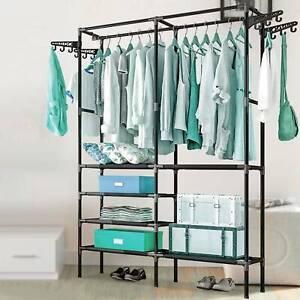 Heavy Duty Clothes Rail Rack Hanging Garment Display Stand Shoe Storage Shelf UK