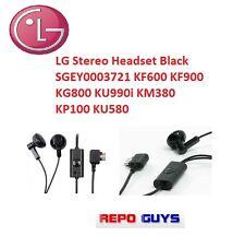 LG Stereo Headset Black SGEY0003721 KF600 KF900 KG800 KU990i KM380 KP100 KU580