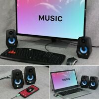 2PC Speakers Speakers for Desktop Computer Stereo 2.0 USB Multimedia Speaker L