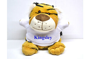 23cm Soft Animal Teddy with Personalised T Shirt for all occasions