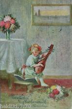 """Namenstag, Kinder, Mandoline, Blumen"" 1924 ♥ (8400)"