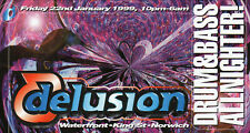 DELUSION 22/1/99 Classic Rave Flyer