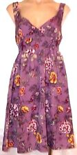 H&M Size 8 sleeveless purple floral elastic empire waist sun dress