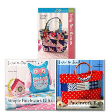 Sewing Bag Collection 3 Books Set,Love to Sew: Simple Patchwork Gifts, Patchwork