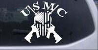 USMC Marine Corps Punisher Skull US Flag AR15 Car Truck Window Decal Sticker