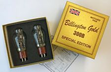 300B Billington Gold Special Edition matched pair 2 pieces NOS tube valve