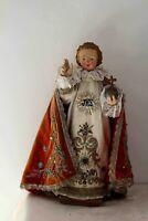 Magnifique enfant Jésus de Prague beaux habits d'origine 52 Centimètres XIXe