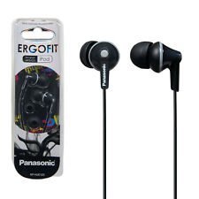NEW Panasonic Ergofit RP-HJE125E-K earphones headphones for iphone ipod mp3 etc.