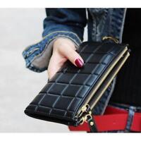 new women purse clutch leather wallet long card holder mobile tassel zip handbag