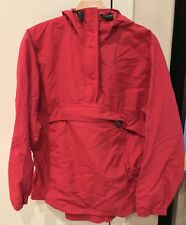 VINTAGE LL Bean Windbreaker Kangaroo Pouch Hoodie Jacket Womens Medium