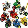Minifigures Ninja Mini Figures FitsLego 8pcs Ninjago Motorcycle Set Toys