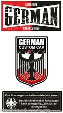 576 3Set German Engineering Sticker Oldschool Tuning Racing Tooth fairy