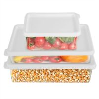 Kitchen Refrigerator Food Containers Plastic Freezer Safe Storage Boxes With Lid
