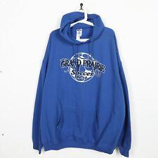 Vintage USA Grand Prairie Soccer Big Logo Hoodie Sweatshirt Blue 3XL