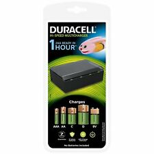 Duracell Hi-Speed MultiCharger Universal AA AAA C D & 9V Rechargeable -CLEARANCE