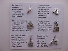 Charmes de mariage pour le scrapbooking, cartes et des bijoux - 7 charmes avec des guillemets