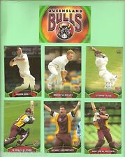 QUEENSLAND BULLS  TOPPS 2002  ACB GOLD CRICKET CARDS