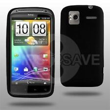 New Black TPU Gel Case Cover Skin for HTC Sensation - In Stock