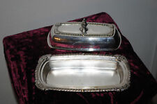 Vintage Silver Plate Sheets Rockford Butter Dish