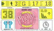 Photo Ticket Billet Finale Coupe du monde 1978