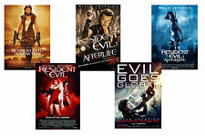 RESIDENT EVIL - SET OF 5 - A4 FILM POSTER PRINTS # 1