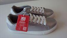 Xti Mujeres/Niñas De Plata Cuero-Aspecto Zapatillas/Zapatillas/Zapatos EU 38/UK 5