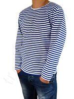 Russian, Navy, Telnyashka, Marine Men's Sailor T-shirt long sleeve 100% cotton