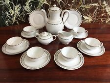 ROSENTHAL Germany BALMORAL Schwarze Ranke edles 21 teiliges Teeservice / 6 Pers.