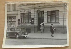 Foto Rostock Stralsunder Wismarsche Straße 1954 Werbung W. Triebsees / Lorenz