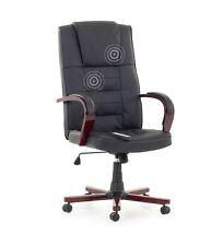 siège de direction Fauteuil massage Chaise bureau cuir noir avec chauffage