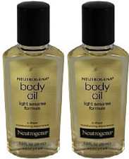 Neutrogena Body Oil, Light Sesame Formula, Sesame Oil, 1 Fl. Oz.(2 Pack)