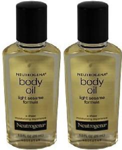 Neutrogena Body Oil, Light Sesame Formula, Sesame Oil, 1 Fl. Oz.(2 Pack)