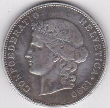 Suisse Swiss  Helvetia. 5 FRANCS 1890 Berne, en Argent. KM# 34