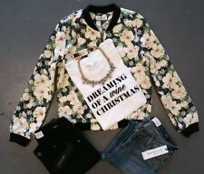 NWT Sugarlips Bomber Jackets (embroidery flowers) unlined Size Medium