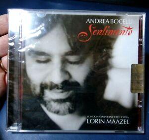 CD NUOVO SIGILLATO - ANDREA BOCELLI - SENTIMENTO - LONDON ORCHESTRA LORIN MAAZEL