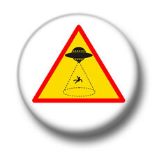 Alien Abduction 1 Inch / 25mm Pin Button Badge Conspiracy Theorist Tinfoil Hat