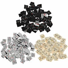 100X Handmade with Love Labels Tags Woven DIY Clothing Sewing Craft Supplies DIY