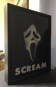 Scream Ghostface Mask In Display Frame Case Horror Movie Collectible Prop Mask