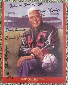 Buck O'Neil Autographed Signed 8X10 Kansas City Monarchs +5 Negro Leaguers
