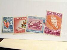 MALAYA  Sc #80 81 82 83 * MH postage stamp set, Fine +